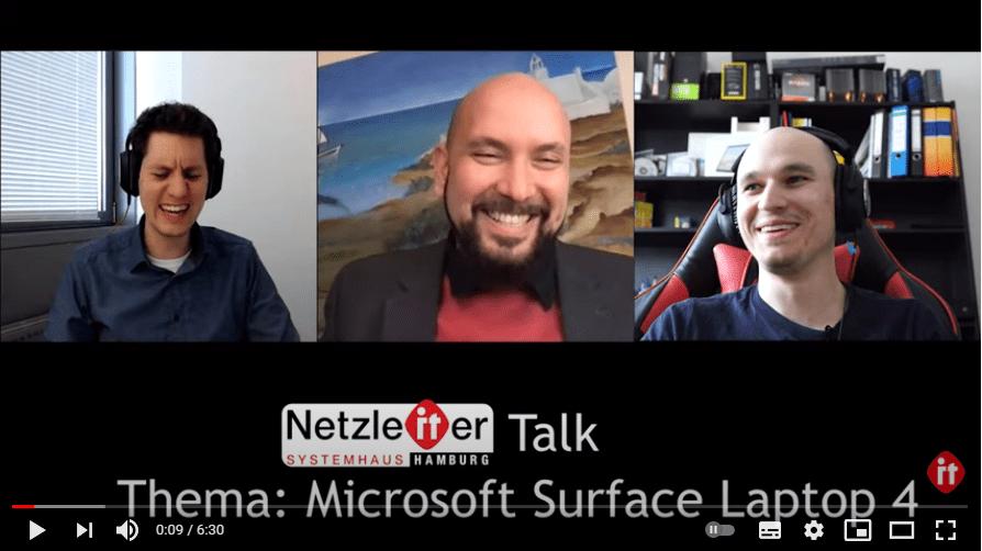 Microsoft Surface Laptop 4 – Netzleiter Talk aus Hamburg