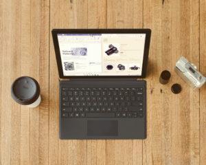notebook surface